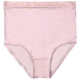 シルク100% ショーツ 冷えとり 深履き おなかすっぽり 薄手 温かい 肌触り 最高 すべすべ (L, 薄いピンク)