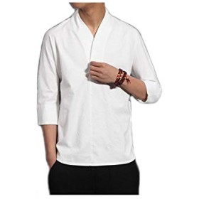 レジャー ユニーク 風早 白 五分袖 Tシャツ メンズ 春 夏 ゆとりがある レジャー m