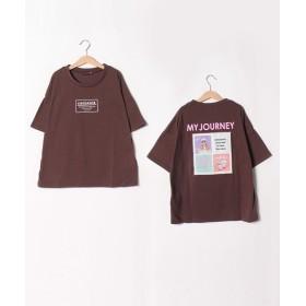 【20%OFF】 ラブトキシック バックフォトTシャツ レディース ブラウン 150 【Lovetoxic】 【セール開催中】