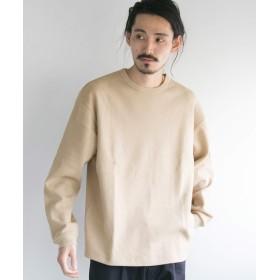 [アーバンリサーチ] tシャツ ロングスリーブ度詰めワッフルルーズクルーネック メンズ grege L