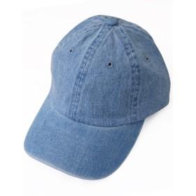 ティーシャツドットエスティー 帽子 キャップ デニム メタルアジャスター付 ライトブルーデニム F (55~60cm)