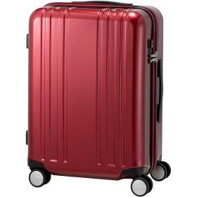 [プラスワン] スーツケース キャリーケース ALPHA SKY EX 容量55L(64L) 縦サイズ60cm 3.8kg 型番 9911-55EX (ワインレッド)