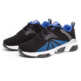 [AMANGU] スニーカー メンズ 運動靴 カジュアル 滑り止め クッション おしゃれ 厚底 通気 軽量 通学 24.5cm-27cm ホワイト ブルー レッド