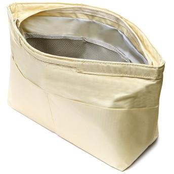 インナーバッグ 軽量 で 大容量 さまざまな大きさの小物に対応 10ポケット 収納バッグ レディース メンズ バッグインバッグ bag in bag ベージュS