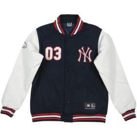 (マジェスティック) MAJESTIC MLB ニューヨーク ヤンキース PUレザー × メルトンウール スタジャン L NAVY/WHITE(ネイビー×ホワイト)