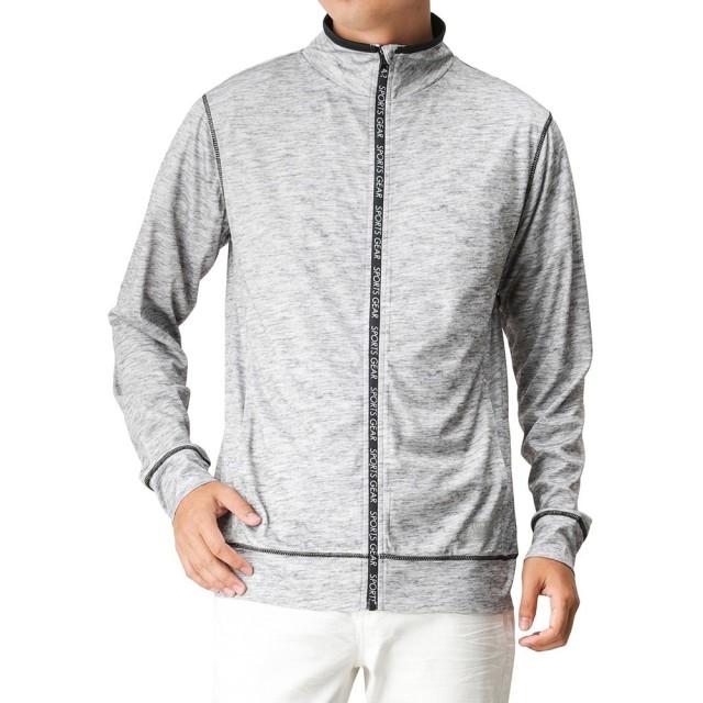 SARARI(サラリ) UPF50+切り替えロングフルジップシャツ 24424282 メンズ グレー:L