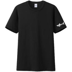 7MILE OCEAN メンズ 半袖 無地 ワンポイント サメ シャーク プリントブランド ロゴ アメカジ S M L XL XXL 大きい