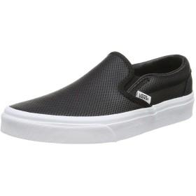 [メンズ&レディース]VANS スリッポン レザー/ Classic Slip-On (Perf Leather) black/white バンズ スリッポン (パーフ・レザー) ブラック/ホワイト黒 [並行輸入品]