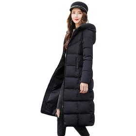 [habille]レディース ロング丈 ベンチコート ロングダウンコート 選べる5色展開 大きいサイズ アウター(XL/ブラック)