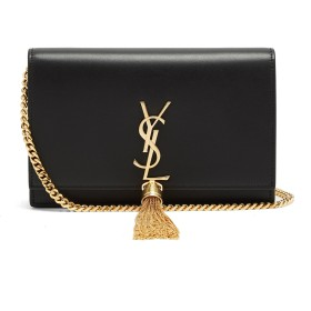 (サンローラン) SAINT LAURENT Kate small smooth-leather cross-body bag Black ケイトスムースレザークロスボディバッグ (並行輸入品)