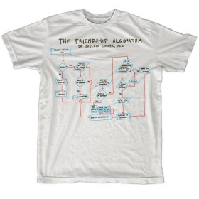 The Big Bang Theory T Shirt The Friendship Algorithm 新しい 公式 メンズ ホワイト