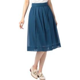 (ノーリーズ) NOLLEY'S ボイルミモレフレアスカート 8-0035-2-06-001 38 ブルー