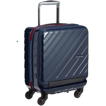 [ヒデオワカマツ] スーツケース ジッパー フロントオープン マックスキャビンウェーブ 機内持込最大容量 機内持ち込み可 85-76330 保証付 25L 45 cm 2.8kg ネイビー