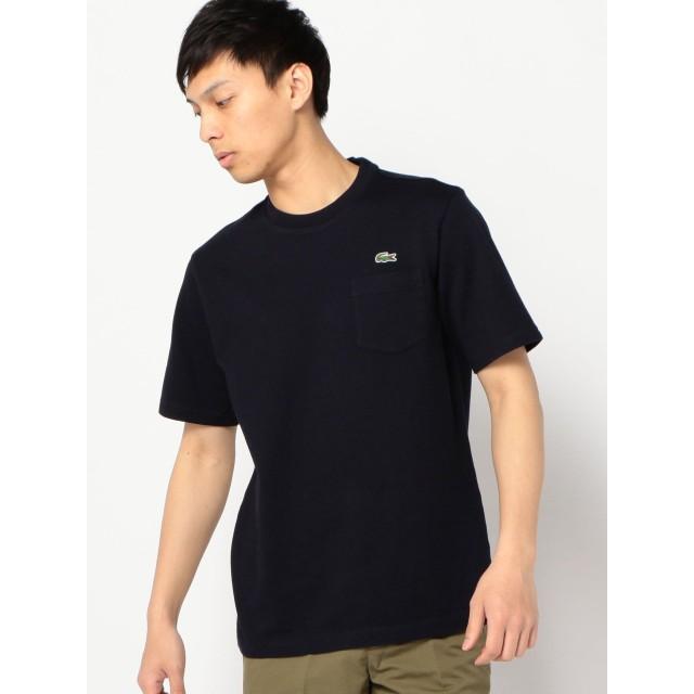 [シップス] LACOSTE ラコステ Tシャツ 半袖 カノコ ポケット メンズ 112114939 S ネイビー 紺