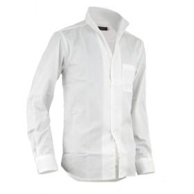 シャツ イタリアンカラー メンズ ドレスシャツ コットンシャツ 長袖 七分袖 日本製 A280818-08 ホワイト(長袖) LL