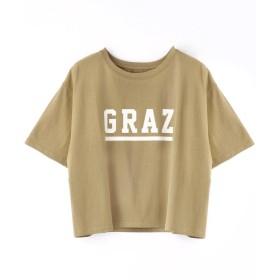 【30%OFF】 グランドパーク ロゴプリントショート丈Tシャツ レディース 46カーキ 99(FREE) 【Grand PARK】 【セール開催中】