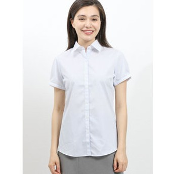 【TAKA-Q:トップス】形態安定 レギュラーカラークレリック半袖シャツ