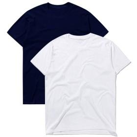 [マコキング]Macoking tシャツ メンズ 速乾 半袖tシャツ メンズtシャツ 白tシャツ 無地 おおきいサイズ 夏服 カットソー スポーツtシャツ カップル 厚手 6.2oz 2枚組