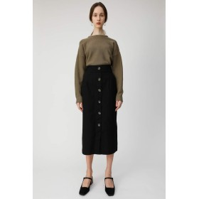 [マウジー] スカート FRONT BUTTON NARROW スカート 010CSW30-1410 S ブラック レディーズ