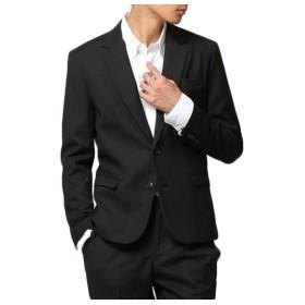 everydress メンズスーツ 軽量サマージャケットチェック ジャケット カジュアルスーツ メンズ礼服 花婿礼服 通勤 スーツ 紳士 ビジネス,YA8,ブラック