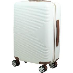 MOIERG(モアエルグ) キャリーバッグ キャリーケース スーツケース 3年保証 修学旅行 [81-80021-20](M, ホワイト)