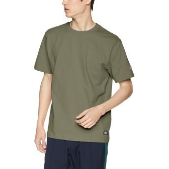 [ディッキーズ] 【Dickies】ロゴワッペンルーズフィットS/S-Tシャツ 191U30WD16 DK006183 グリーン サイズXL, 着丈72.5cm, 胸囲118cm, 肩幅52cm, 袖丈24cm