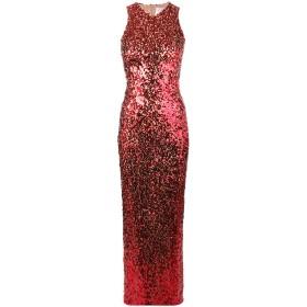 Galvan スパンコール ロングドレス - レッド