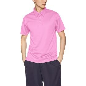 [グリマー] 半袖 4.4オンス ドライ ボタンダウン ポロシャツ (ポケット無) 00313-ABN ピンク 5L (日本サイズ5L相当)