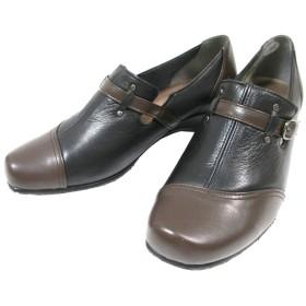 【履くほどに愛着が湧く、手放せない1足になりそう。】[ユキコキミジマ ] Yukiko Kimijima 7072 レディース カジュアルシューズ 天然皮革 ゆったり フラット 仕事靴 ブラック/ブラウン・ネイビー/ブラウン・ベージュ/ライトブラウン (24.5, ブラック/ブラウン)