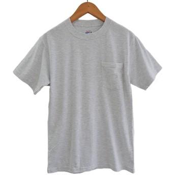 (ヘインズ) HANES BEEFY TEE POCKET ヘインズ メンズ ポケットTシャツ 5190p ビーフィー [並行輸入品] (L, アッシュ)