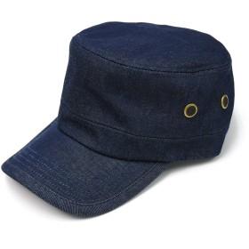 [クリサンドラ] 帽子 メンズ キャップ 大きいサイズ ワークキャップ 全9柄 綿100% ワーク キャップ フリーサイズ カジュアル 無地 デニム ビジカジ ブランド デニム c01 01