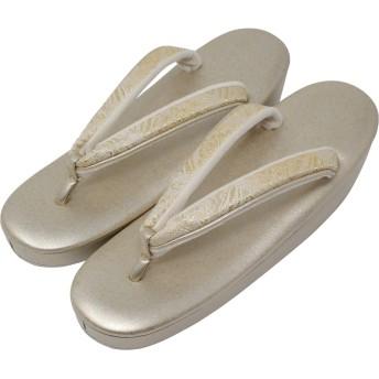 草履 女性 レディース 礼装 和装 紗織 (沙織) Lサイズ 金 (Lサイズ/ゴールド(金)A)