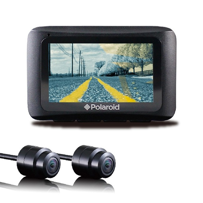 Polaroid 寶麗萊 MS273WG 蜂鷹夜視雙鏡 機車行車記錄器 [送3好禮] (禾笙科技)