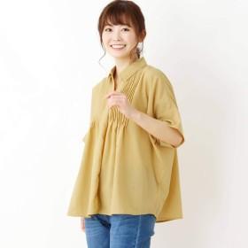 (サンカンシオン) 3can4on タックデザインスキッパーシャツ 54086022 99 イエロー(032)