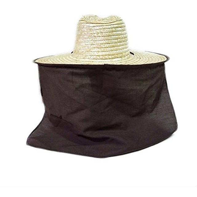 The Hatter(ザ・ハッター) 作業用帽子 メンズ レディース 麦わら帽子 農作業 帽子 UV 日よけ ガーデニング メンズ レディース おしゃれ UVカット 紫外線 日焼け つば広 父の日 春 夏 首 首ガード ブラウン