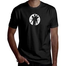 BOOWY ボウイ1 Tシャツ メンズ 半袖 カットソー 丸首 無地 ゆったり 大きいサイズ カジュアル プリント シャツ
