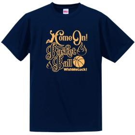 バスケットボール Tシャツ ドライシルキー ウェア 練習着に! BA801 L ネイビー×ゴールド