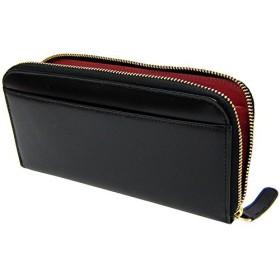 [マトゥーリ]Maturi エグゼクティブ コードバン ラウンドファスナー 長財布 黒×赤 MR-036