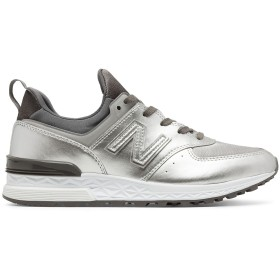 (ニューバランス) New Balance 靴・シューズ レディースライフスタイル 574 Sport Silver シルバー US 5 (22cm)