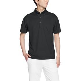 (ユナイテッドアスレ)UnitedAthle ポロシャツ 4.1オンス ドライアスレチック ポロシャツ(ボタンダウン)(ポケット付) 592101 2 ブラック S
