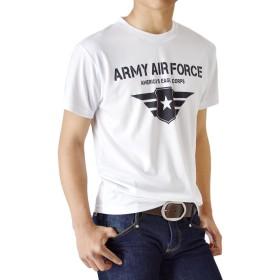 (アローナ)ARONA 接触冷感 DRY ストレッチ Tシャツ カットソー 涼しい メンズ /M1/ C01ホワイト LL