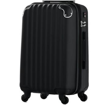 スーツケース 両面ABS ファスナーオープン 超軽量 TSAロック搭載 (64008-74008) (SS-64008, ブラック)