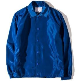 (オリマート)ORI-MART コーチジャケット ナイロン ウインドブレーカー スケボー ストリート アウター トップス メンズ レディース (XL(日本サイズL相当), ブルー)