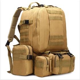 バックパック 3Day 大容量 軍用 Molle対応 リュックサック アウトドアデイパック50L KHAKI