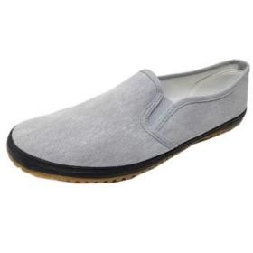 [自重堂] 作業靴 現場のゲンさん S2177 抗菌 防臭 室内外兼用 室内履き 室内作業 スリッポン たび靴 ワークシューズ グレー(カラー 25.0)
