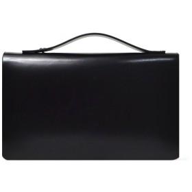 LANZA (ランザ) セカンドバッグ カウハイドレザー [ ブラック ] ダブルジップ バッグ 鞄 イタリア製