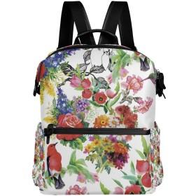 AOMOKI リュック リュックサック メンズ レディース 男女兼用 通勤 通学 大容量 花柄 薔薇 菊 鳥 カラフル