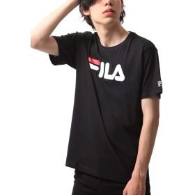 [フィラ] FILA デカロゴプリント半袖Tシャツ fh7492 BLACK M