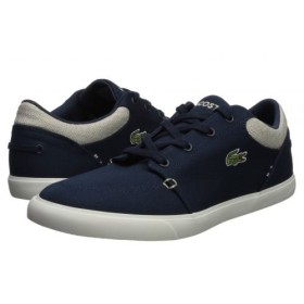 Lacoste(ラコステ) メンズ 男性用 シューズ 靴 スニーカー 運動靴 Bayliss 218 2 - Navy/Natural 10.5 M [並行輸入品]