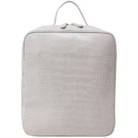 [ナルシャ]Narusya Polar[アイボリー] itbag クロコ 型押し スクェア リュック 2way トートバッグ レディース 大きめ a4 ファスナー付き おしゃれ 大人 大容量 フェイクレザー 合皮 通学 通勤 リュックサック 大型 バックパック backpack クロコダイル バッグ バック かばん 鞄